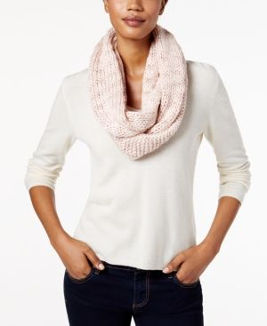 BCBGeneration Thick and Thin Infinity Loop Scarf, A Macy's Exclusive Style - Tan/Beige