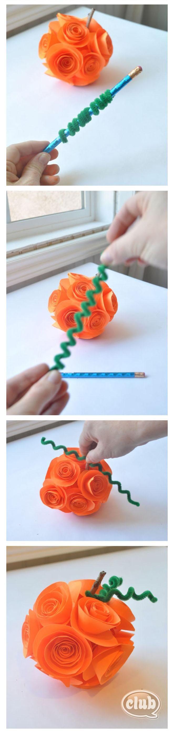 Pumpkin stems for crafts - Diy Halloween Diy Paper Flower Pumpkin Diy Halloween Decor Pumpkin Stempumpkin Craftsfall