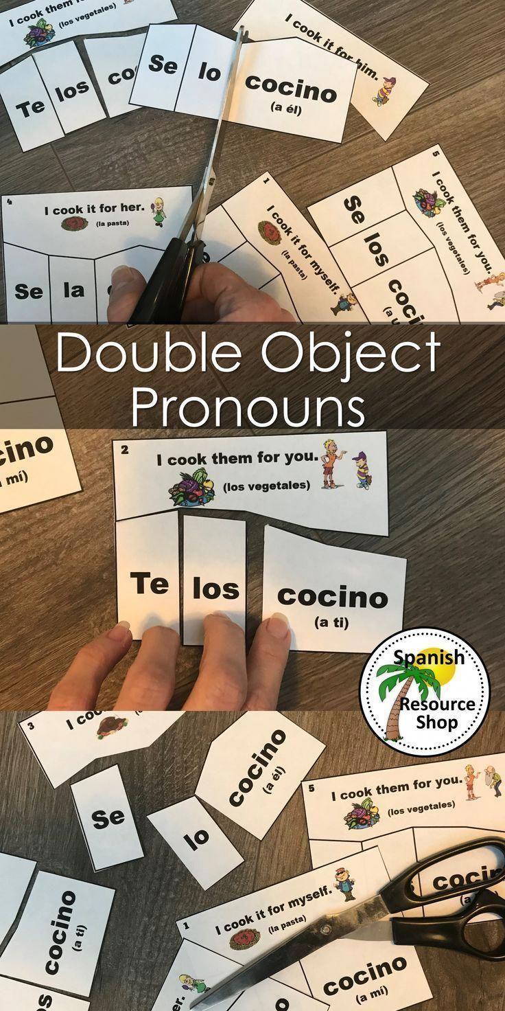 Spanish Double Object Pronouns Puzzles Spanish Classroom Activities Spanish Classroom Elementary Spanish