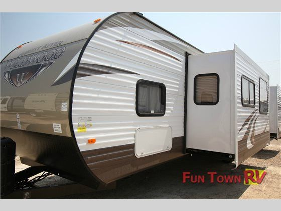 8 best dream life images on pinterest airstream camp trailers and the wildwood travel trailer by forest river offers double slides and a front bunk house as you enter the travel trailer to the right there is fandeluxe Image collections