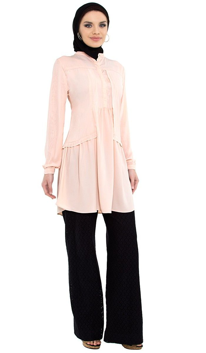 How to wear hijab with palazzo pants? (16)