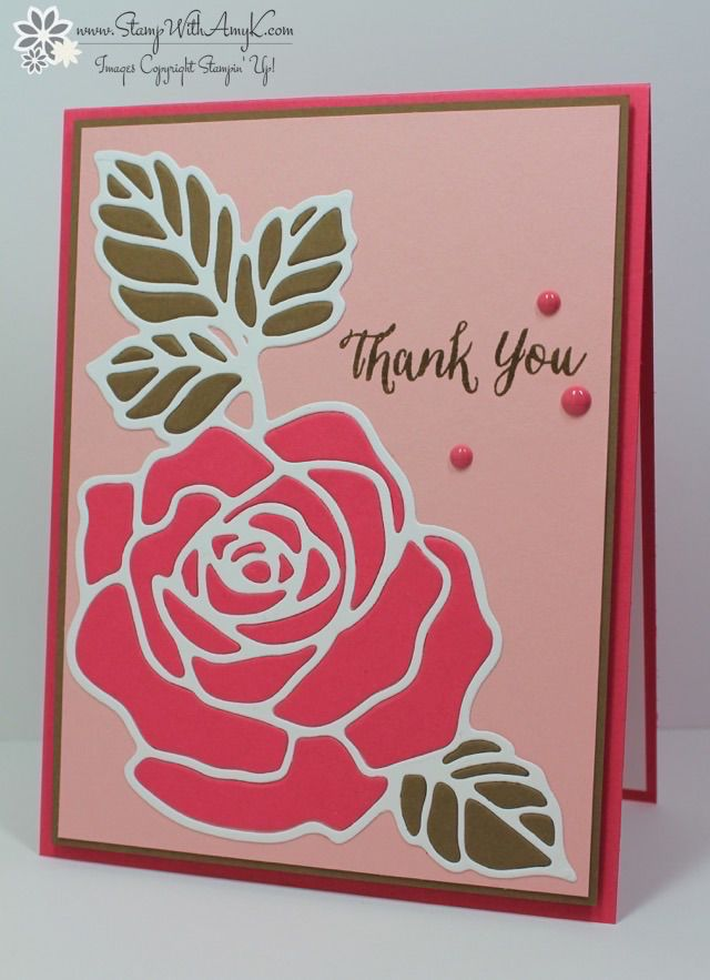 188 best Stampin\' Up! Rose Wonder images on Pinterest | Craft ...