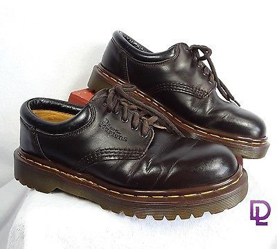 Dr-Martens-Airwair-Size-5-Brown-Leather-Tie-Up-No-8053-Crazy-Horse-Oxfords-Mens