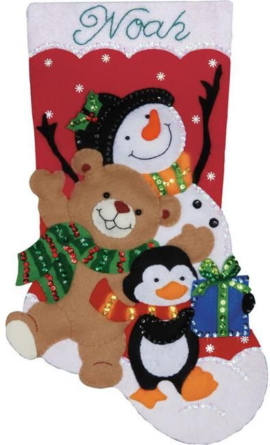 Felt Applique Christmas Stockings and Ornaments (Page 2) - 123Stitch.com