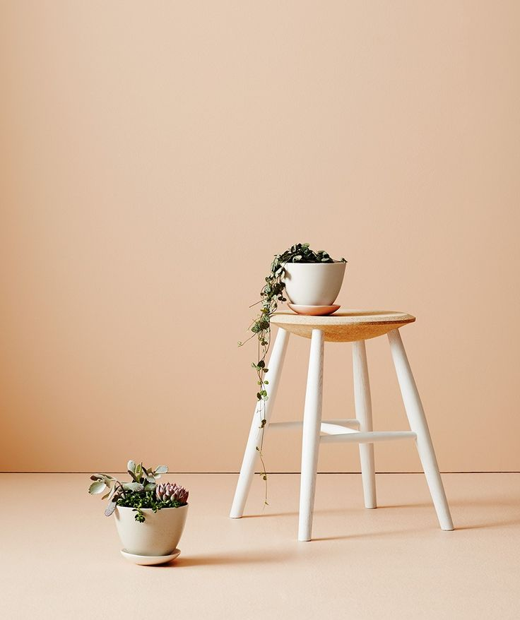 We love this petite ceramic handmade pot and drip tray set. Perfect for small plants and succulents. | http://www.huntingforgeorge.com