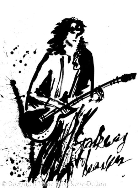 Jimmy Page - Stairway to Heaven - Acrylic ink on paper