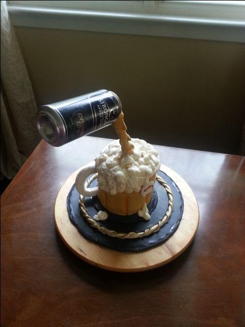 anti gravity beer cake