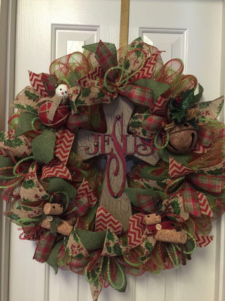 how to make a burlap cross wreath