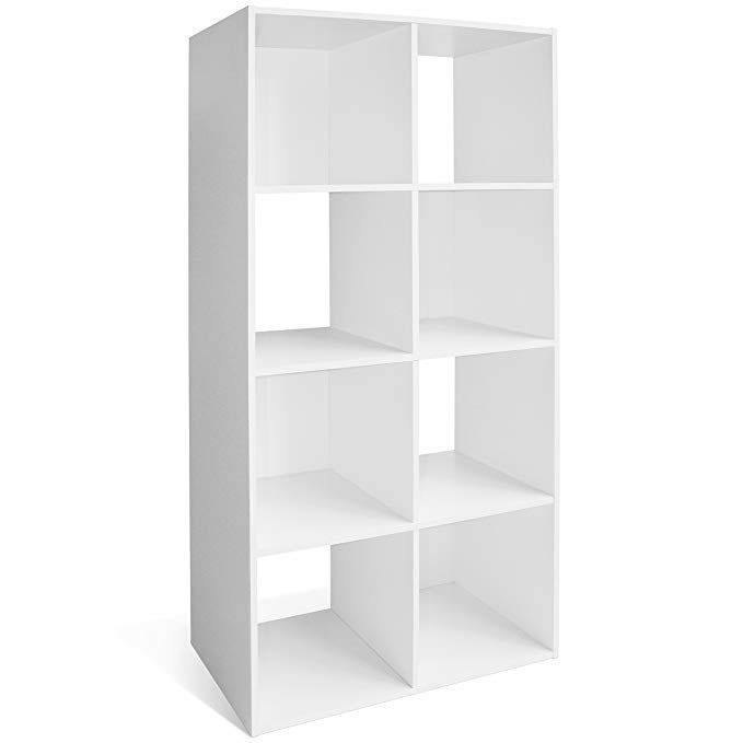 Cap Living 4 6 8 Cube Room Organizer Shelf Storage Divider 2 X 2 2 X 3 2 X 4 Bookcase Colors Available In Espresso And White White 8 Cube Review Room Organization Shelves Shelf Organization