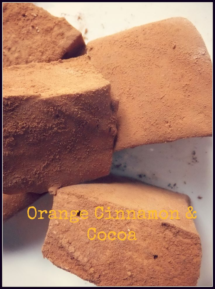 Orange Cinnamon & Cocoa marshmallows, made with freshly squeezed orange juice are  handmade in Ireland by Mallow Mia gourmet Marshmallows.
