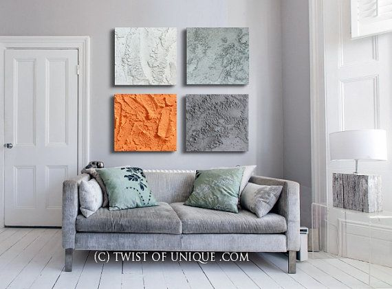 Abstract Wall Decor 63 best art | terros- industrial concrete abstract paintings