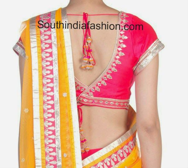Stylish Blouse Back Neck Pattern ~ Celebrity Sarees, Designer Sarees, Bridal Sarees, Latest Blouse Designs 2014