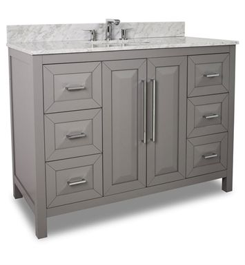 Gallery One xx Hardware Resources VAN T Cade Contempo Vanity with White Marble Top and