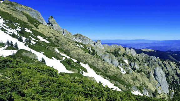 A view over the Ciucas Carpathian Mountains in April 2017