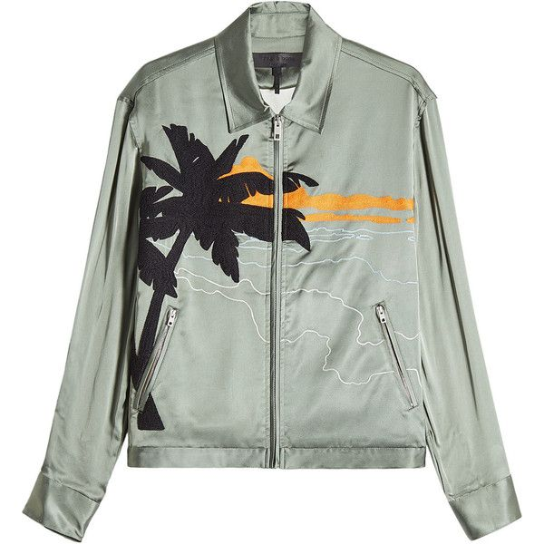Rag bone roth embroidered satin jacket mxn