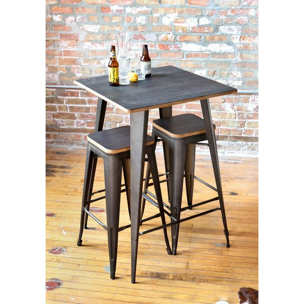 Oregon Rustic 3 Piece Pub Set TablesPub Table SetsYouth
