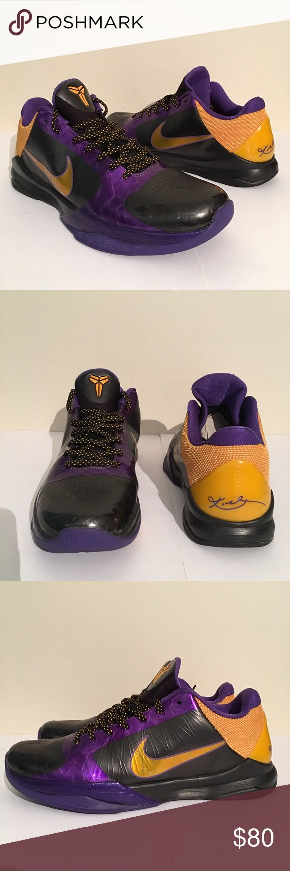Nike Kobe V men's size 11.5 Nike Kobe V men's size 11.5. Lightly worn. Nike Shoes Athletic Shoes