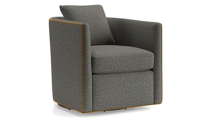 Drew small swivel chair crate and barrel canada small