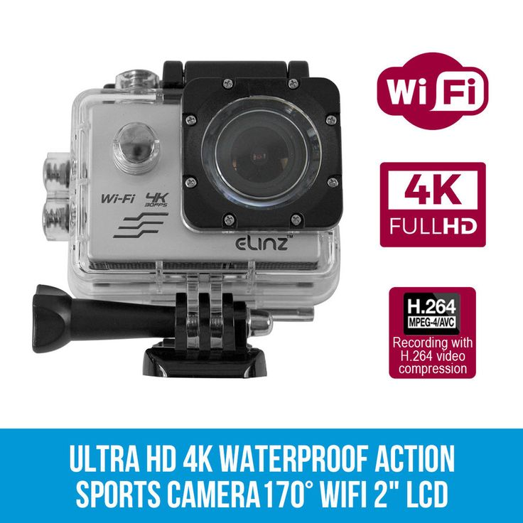 Sports Action Camera Video Camcorder 170° 1080P HD WiFi Waterproof Action Cam