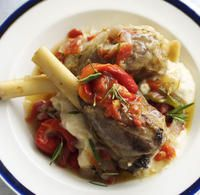 Recipe for Braised lamb shanks with white bean purée