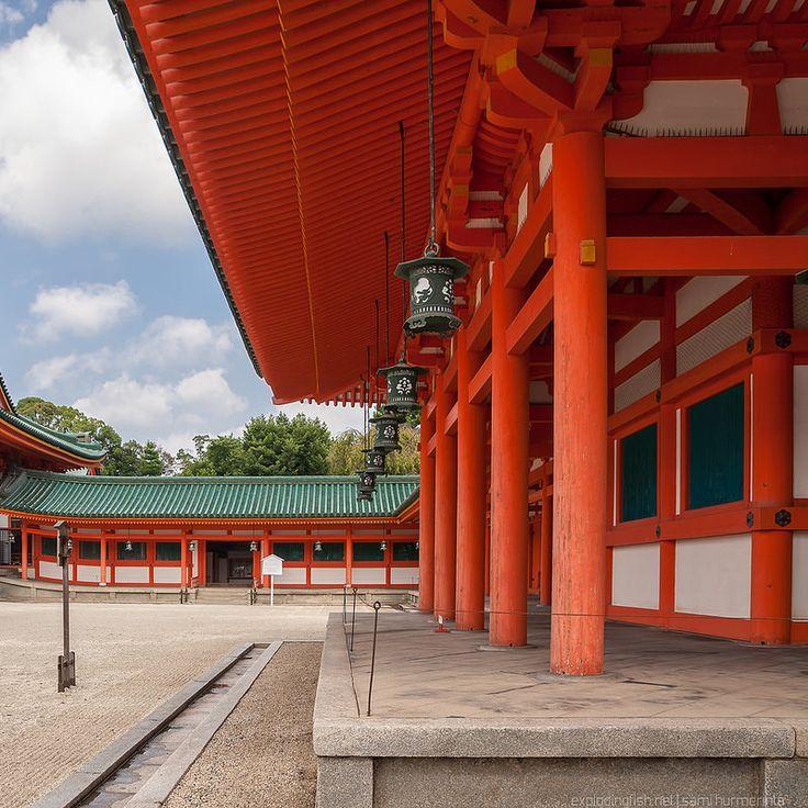 The Soryuro tower at the Heian Shrine in Kyoto - Copyright Sami Hurmerinta / Explodingfish.net. All Rights Reserved.    #japan #kyoto #autumn #fall #shinto #shrine #heianshrine #travel #travelphotography