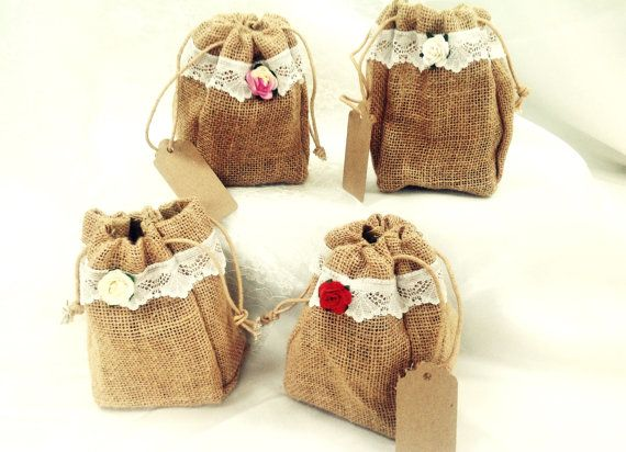 Shabby Chic Vintage Jute and Lace Favour by VeryVintageBoutiques, £1.65