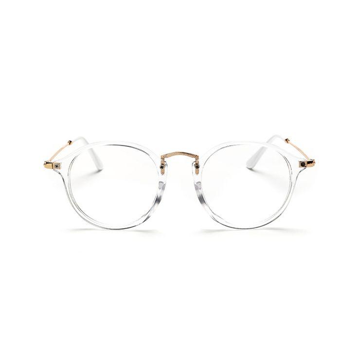 Clásico de La Vendimia Gafas Redondas Gafas de sol Unisex Nerd Gafas Marco Transparente Claro Gafas luneta oculos de grau de vue Con Caja en Marcos Eyewear de Ropa y Accesorios en AliExpress.com | Alibaba Group