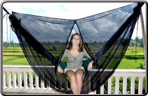 Mosquito Net Cocoon in action                              …