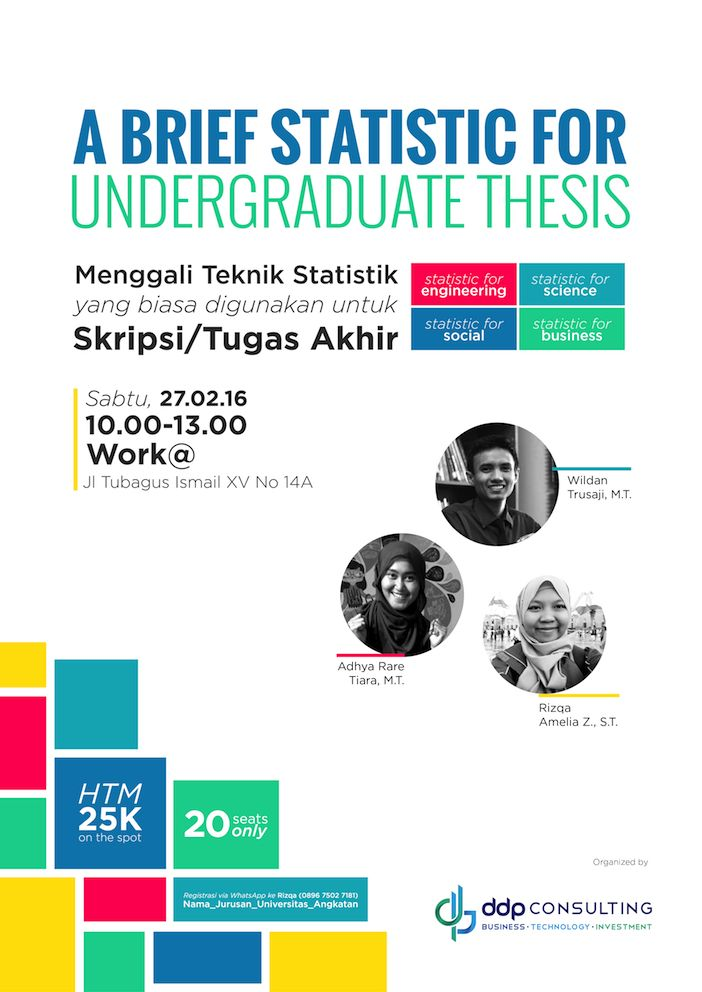 A Brief Statistic for Undergraduate Thesis Seminar Poster Design