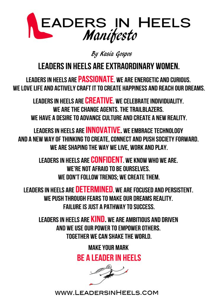 Our Manifesto | Leaders in Heels | For Successful Women in Business