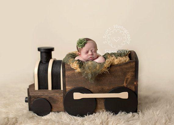 Wooden Train Photography Prop by TwinkleStarPhotoProp on Etsy, $185.00