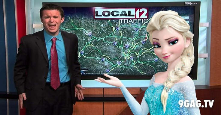 """News Reporter Delivers Winter Weather Warning With A """"Let It Go"""" Parody 