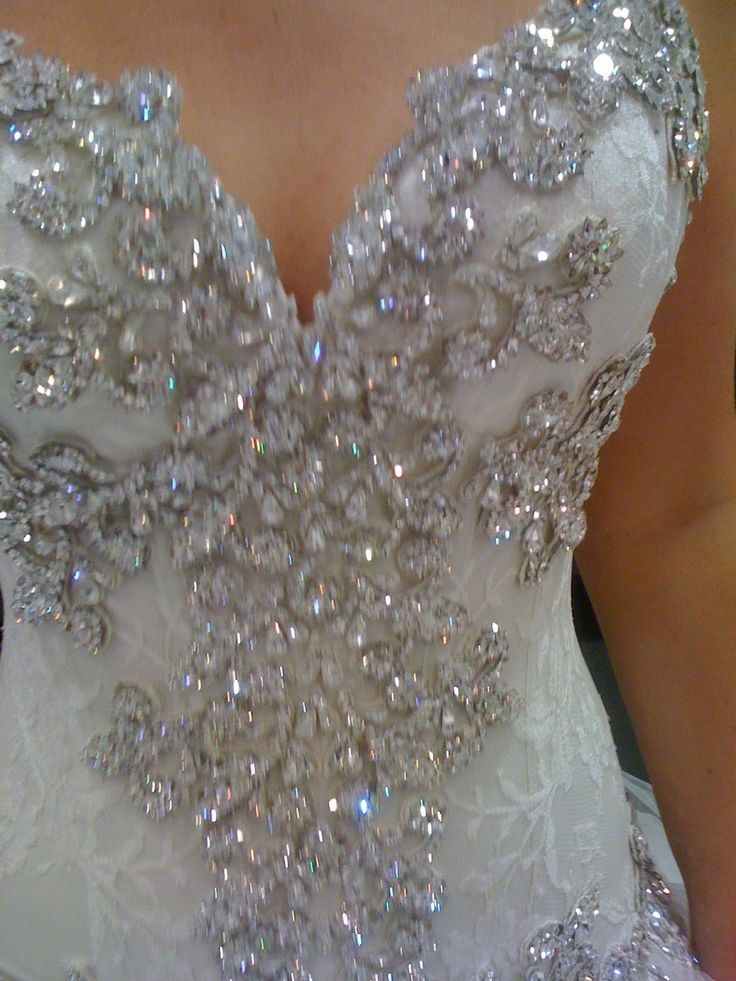 Blinged Out Wedding Dresses | Ad - Wedding Dress - USA - Michigan - Pnina Tornai Custom bling dress ...