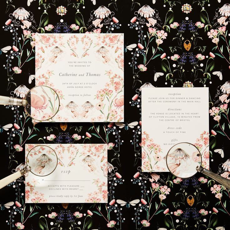 MOTHER OF PEARL X PAPIER COLLABORATION  personalised invitations and note paper in Valentine.