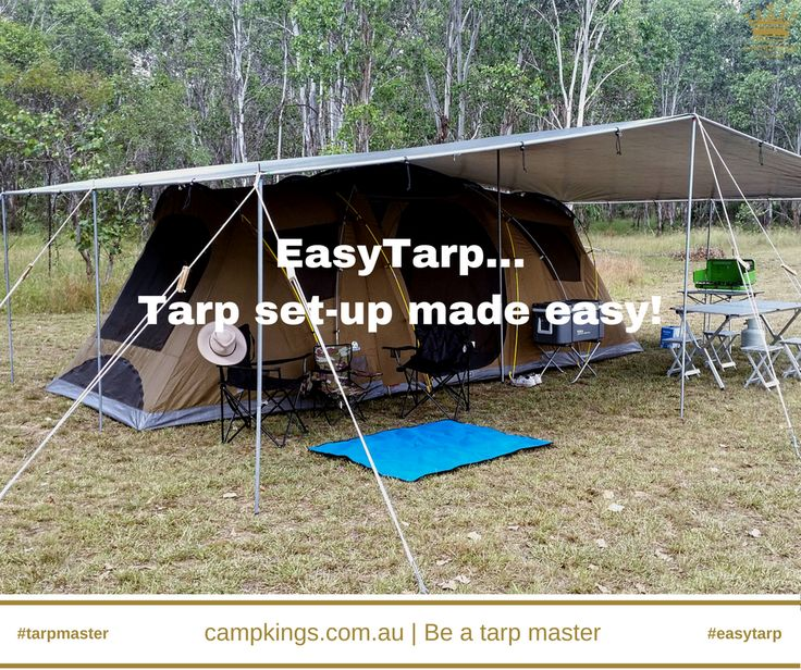 Tarp set-up made easy with EasyTarp #EasyTarp