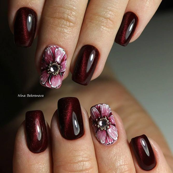 The 25 best burgundy nail designs ideas on pinterest acrylic 30 newest burgundy nails designs you should definitely try in 2017 prinsesfo Images