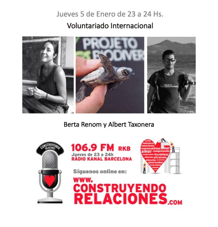 """Programa con Albert Taxonera y Berta Renom, hablando sobre """"Voluntariado Internacional""""."""