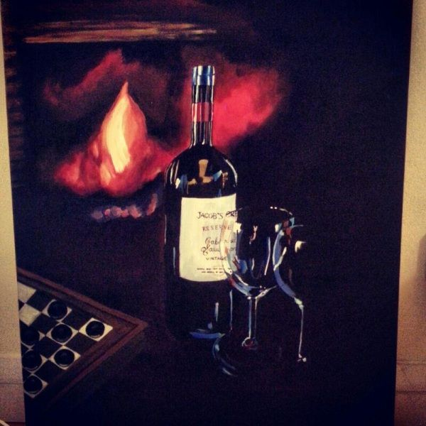 Painting. Fire. Wine. Art. www.ciarafaganart.com