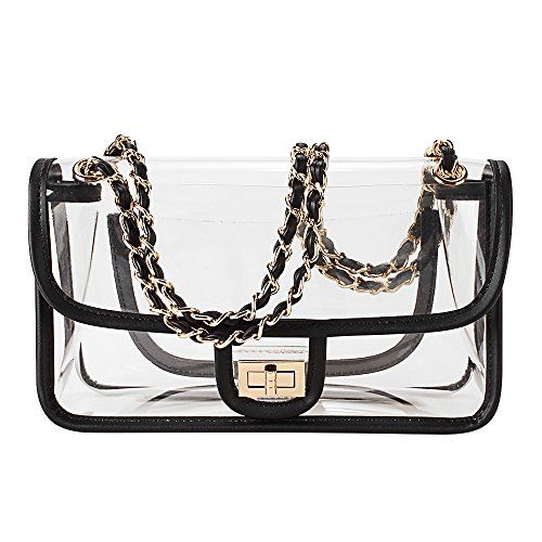 Clear Purse Crossbody Messenger Shoulder Bag for Women Chain Strap, NFL Stadium Approved  https://allstarsportsfan.com/product/clear-purse-crossbody-messenger-shoulder-bag-for-women-chain-strap-nfl-stadium-approved/  NFL NHL NCAA stadium approved – perfect for clear-bag-only events. Removable chain straps – can be a handbag, evening bag, shoulder bag or crossbody messenger bag High-quality turning-lock closure – keep your belongings safe