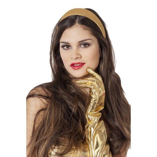 Gouden glitter diadeem. Een mooie glinsterende gouden glitter diadeem. Deze gouden glitter diadeem is voor volwassenen.