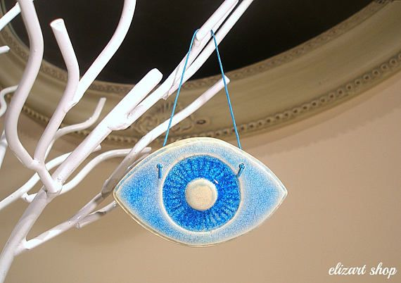 Wall hanging eye evil eye blue evil eye ceramic eye evil