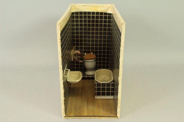 P1k72  Spielzeug Puppenstube, Badezimmer/ Nasszelle 50er Jahre | EBay |  Dollhouse | Pinterest