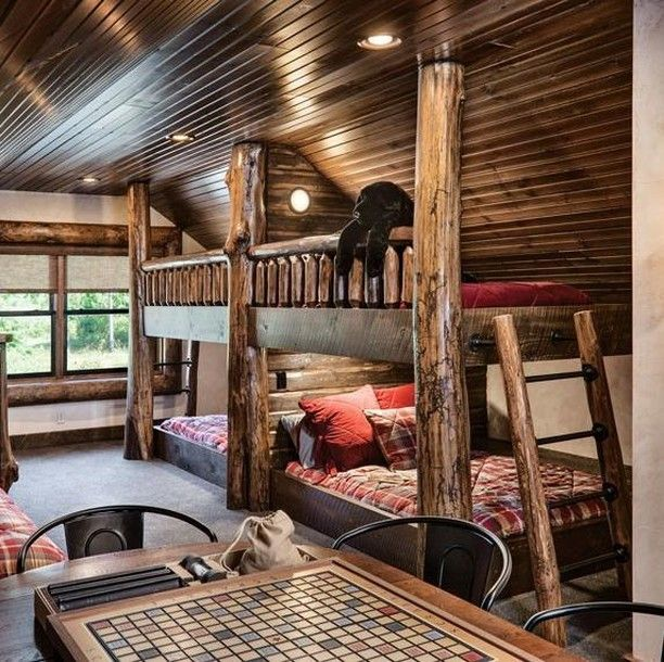 "Log Home Living on Instagram ""With four fullsize beds"