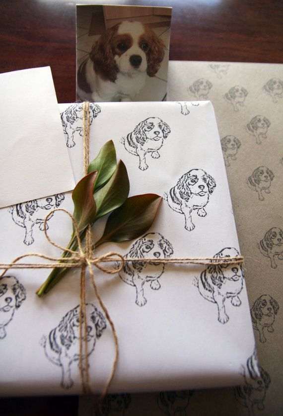 Personalised Wrapping Paper Custom Pet Paper by TheCraftyCavoodle