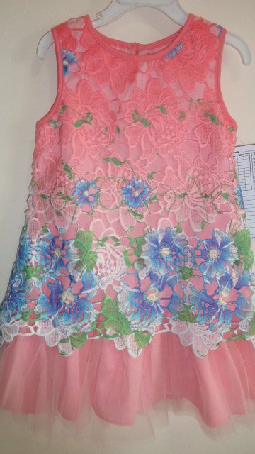 girls dress in embroidered hombre lace fabric and tulle skirt...pretty and fab!