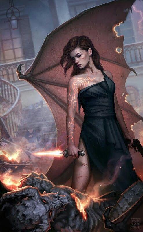 Fury of The Demon novel cover art by Dan Los Santos. Love this book.series.