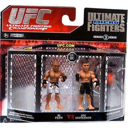 BJ Penn vs. Joe Stevenson Mini Figure 2-Pack UFC 80, Multicolor