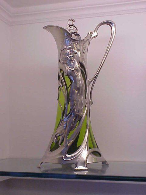 Magnificent Impressive WMF Art Nouveau Maiden Claret Jug