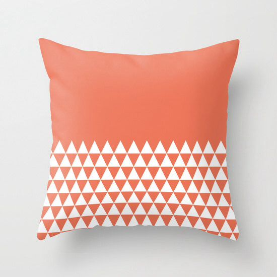 8 colours, Geometric Triangles Half Print Pattern Pillow Cover, pattern pillow case, Geometric Cushion cover, Indoor or Outdoor pillow cover by ThingsThatSing on Etsy https://www.etsy.com/listing/245138055/8-colours-geometric-triangles-half-print