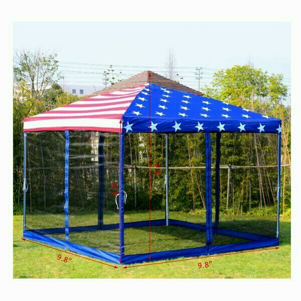 Outdoor Garden Gazebo Patio Bbq Shelter Portable Pop Up Party Tent Us Flag 10x10 Unbranded Traditional In 2020 Patio Gazebo Gazebo Outdoor Shade